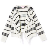 Pink Angel Off White & Black Stripe Fringe Cardigan - Toddler & Girls