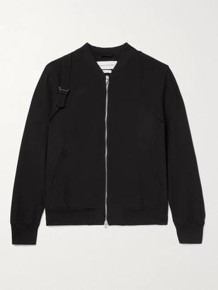 Alexander McQueen Slim-Fit Harness-Detailed Neoprene Bomber Jacket