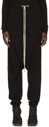 Rick Owens Black Merino Drawstring Lounge Pants