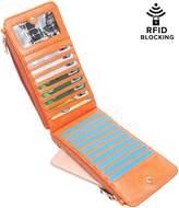 Aitbags RFID Blocking Women Bifold Multi Card Organizer Wallet Card Case Purse