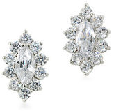Carolee Cubic Zirconia Studded Button Clip-On Earrings