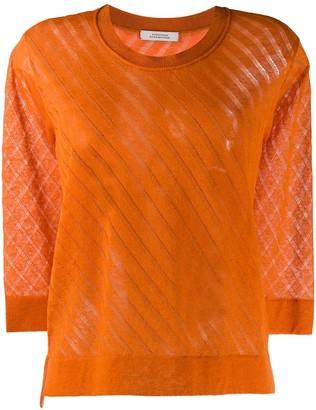 Dorothee Schumacher 7/8 Sleeve Round Neck Pullover