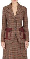 Prada Women's Houndstooth Wool-Blend Two-Button Blazer