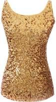 URqueen Women's Fashion Sequins Embellished Clubwear Tank Top