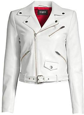 The Kooples Women's Asymmetric Leather Moto Jacket