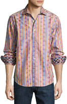 Robert Graham Printed Long-Sleeve Sport Shirt, Multi
