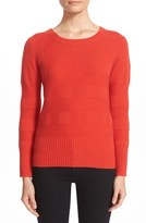 Burberry Women's 'Deel' Check Knit Wool & Cashmere Sweater