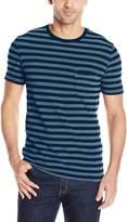Levi's Men's Set-In Sunset Pocket T-Shirt, Half Stripe Dark Blue/Indigo