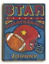 The Well Appointed House Personalized Star Quarterback Giclee Print-Available in Four Different Sizes