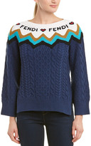 Fendi Cable-Knit Wool & Cashmere-Blend Sweater
