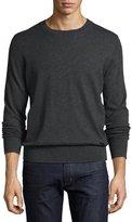 Burberry Kingston Cashmere-Cotton Sweater, Dark Gray