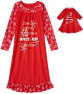 Girls 4-16 SO® Red Holiday Nightgown & Doll Nightgown Pajama Set