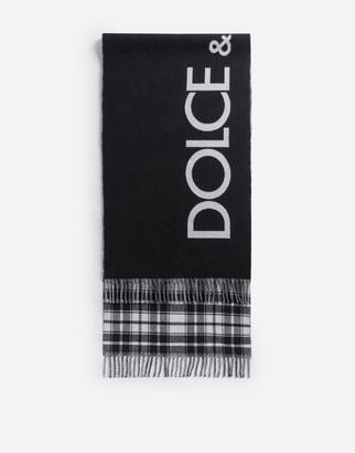 Dolce & Gabbana Jacquard Scarf With Logo