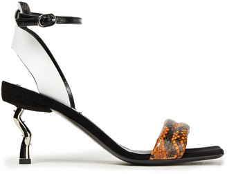 McQ Spirit Leather And Elpahe Sandals