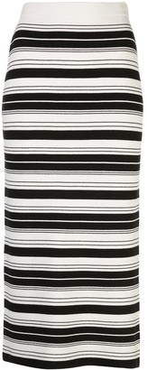 Proenza Schouler White Label Striped Pencil Skirt