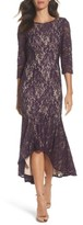 Alex Evenings Women's Lace High/low Gown
