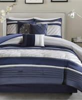 Madison Park Blaire 7-Pc. Faux-Silk Queen Comforter Set Bedding