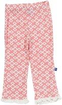 Kickee Pants Print Ruffle Pants (Baby) - Lotus Geo Lattice-3-6 Months