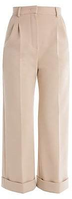 Fendi Women's Pleat Front Cropped Pants