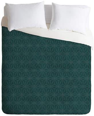 Deny Designs Holli Zollinger Shiko Marine Twin Duvet Set Bedding