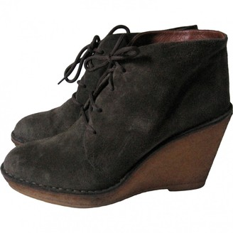 Marc by Marc Jacobs Khaki Leather Ankle boots