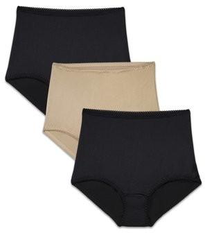 Radiant by Vanity Fair Women's Undershapers Light Control Brief Panty, 3 Pack