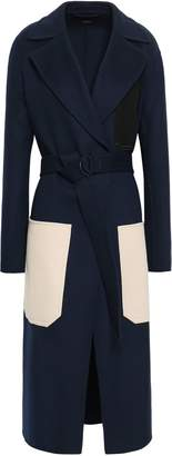 Joseph Marcus Color-block Wool And Cashmere-blend Coat
