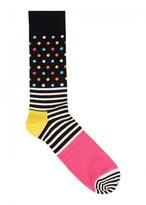 Happy Socks Polka-dot And Striped Socks