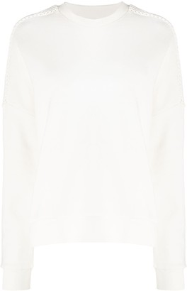 Closed Panelled Cotton Jumper