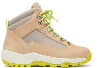 Diemme Cortina Nubuck And Canvas Hiking Boots - Mens - Grey