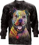 The Mountain Beware Of Pit Bulls USA Long Sleeve T-Shirt