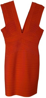 Herve Leger Orange Cotton - elasthane Dress for Women