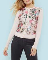 Ted Baker Blossom Jacquard Cardigan Pink