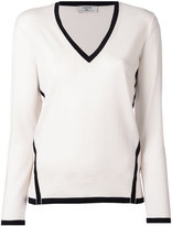 Lanvin contrast trim jumper - women - Wool - S