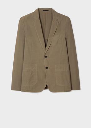 Paul Smith Men's Mid-Fit Khaki Cotton Blazer
