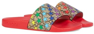 Gucci Kids Children's GG rainbow star slide sandal