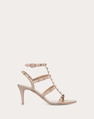 Valentino Rockstud Calfskin Ankle Strap Sandal 70 Mm Women Poudre Calfskin 100% 38