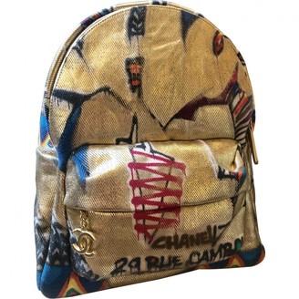 Chanel Graffiti Gold Denim - Jeans Backpacks
