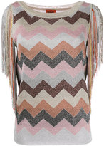 Missoni zigzag fringed jumper - women - Rayon/Polyester/Viscose - 40
