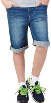Leo&Lily Boys' Kids' Rib Waistband Regular Fit Stretch Denim Shorts Jean