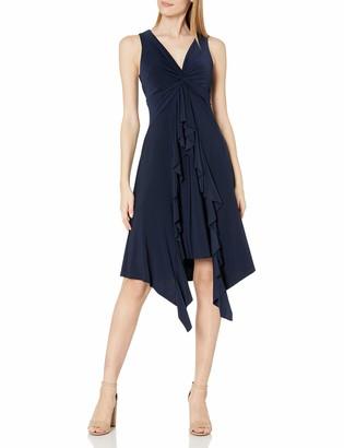 Taylor Dresses Women's Sleeveless Ruffle Front Knot Dress