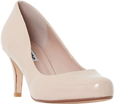 Dune Amelia Cone Heeled Court Shoes, Nude