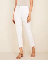 Ann Taylor The Petite Cotton Crop Pant - Curvy Fit