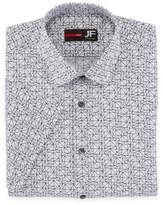 Jf J.Ferrar Stretch Slim Fit Short Sleeve Dress Shirt