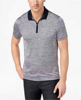 Alfani Men's Mesh-Print 1/4-Zip Polo, Created for Macy's