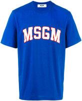 MSGM logo print T-shirt - men - Cotton - L