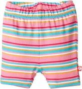 Zutano Multi Stripe Bike Shorts (Baby) - Hot Pink-24 Months