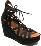 Gentle Souls Joy Nubuck Leather Platform Wedge Sandals