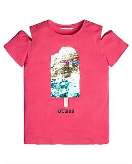 GUESS Sequin Ice Cream T-Shirt