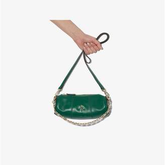 Atelier Manu green mini cylinder leather bag